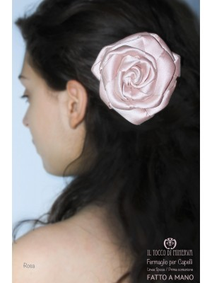 Rita silk hair clip for First Communion / Ceremony Handmade