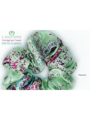 Pistachio silk hair elastic - Handmade