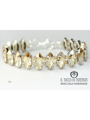 Swarovski Eris Gold Bracelet - Handmade