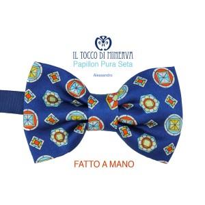 Man Alessandro Papillon silk high fashion fabric - Handmade