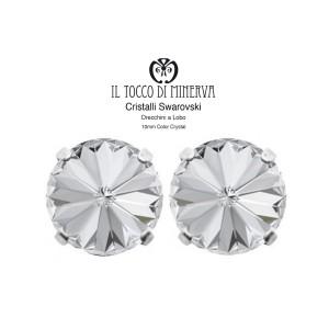 Swarovski Crystal Earrings 10 mm Crystal Color - Handmade