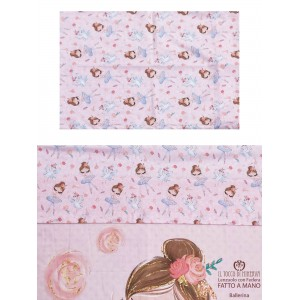 Ballerina Cotton Bed Sheet with Pillowcase - Handmade