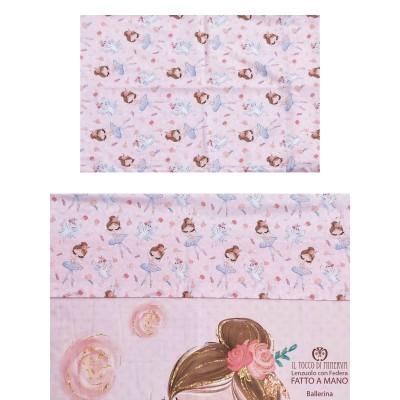 Ballerina Cotton Bed Sheet with Pillowcase - Handmade