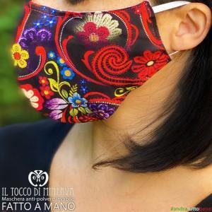 Washable anti-dust mask will be fine multicolor