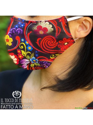 Washable anti-dust mask will be fine multicolor