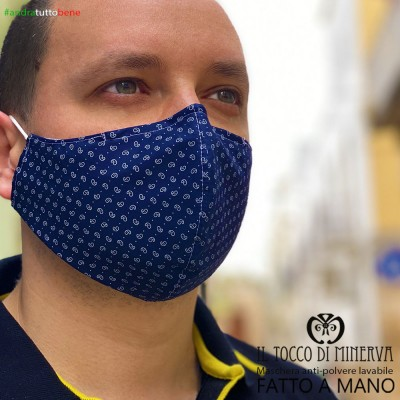 Form two anti-dust washable mask will be all right blue unisex drop