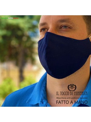 Form two anti-dust washable blue unisex mask will go well adult