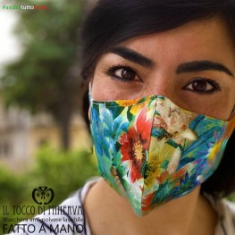 Washable anti-dust mask adult exotic flower will be all right