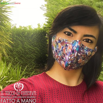 Washable adult fish anti-dust mask will be fine unisex