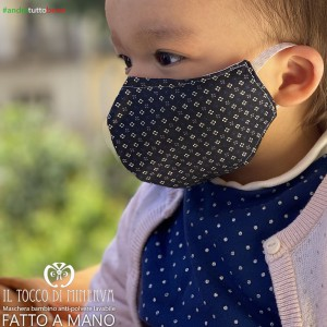 Washable dust mask with pocket will be fine blue baby 1-3 years old