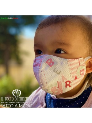 Washable dust mask will be fine for children 1-3 years old