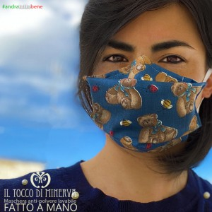 Mask form one washable anti-dust will be all right teddy bears