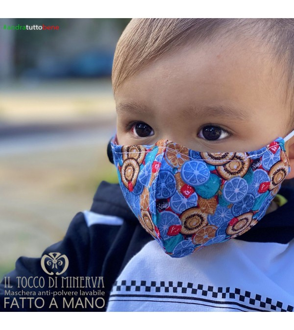 Form two anti-dust washable mask all blue fruits will be all right 6-7 years