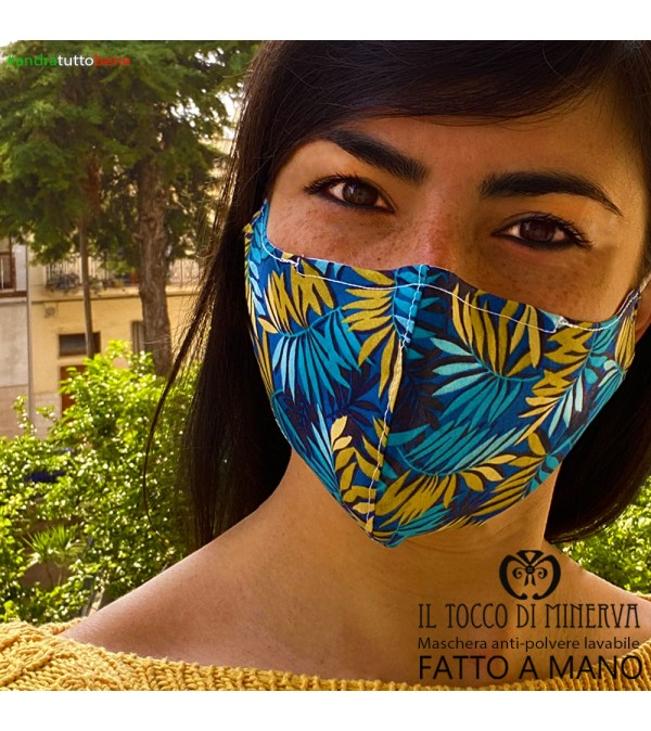 Form two anti-dust washable mask will be all right abstract blue