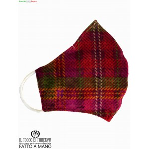 Anti-dust washable tartan bamboo mask - Handmade