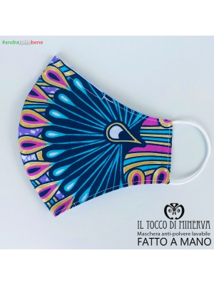 Mask shape 2 pocket anti-dust washable will be fine africa celestial peacock