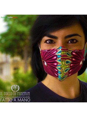 Mask shape 2 washable dust pocket will be fine africa fuchsia peacock