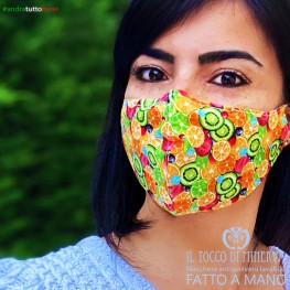 Form two anti-dust washable mask all orange fruits will be all right