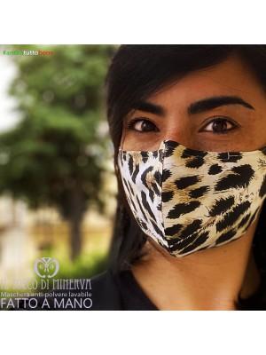 Mask form 2 washable anti-dust pocket will be fine leopard print