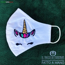 Form 2 anti-dust washable mask will be fine unicorn - Handmade