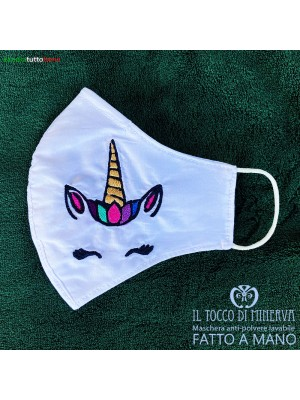 Form 2 anti-dust washable mask will be fine unicorn - Handmade