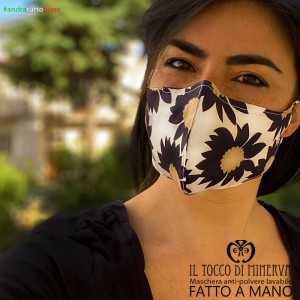 Mask shape 2 washable anti-dust pocket will be fine black flower
