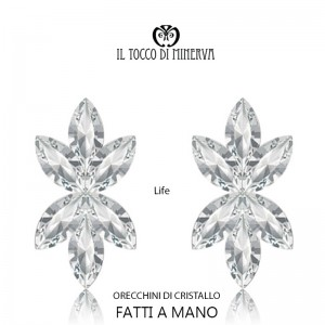 Life Linea Sposa crystal earrings Hand made