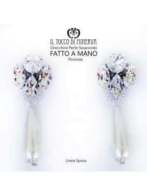 Florinda swarovski earrings and Lina Sposa handmade beads