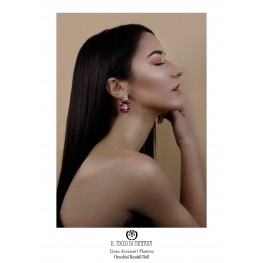 Swarovski Kendall Earrings Powder Pink Fuchsia - handmade - HandMade