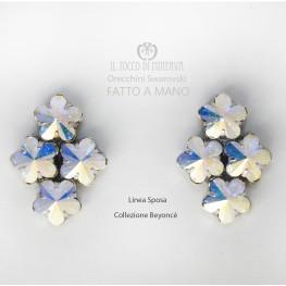 Swarovski crystal earrings Beyoncè Iridescent Bridal Line - Handmade