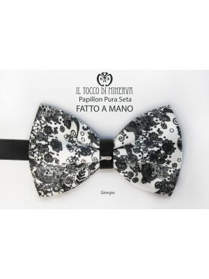 Pure Silk Papillon Giorgio Alta Fabric - Handmade
