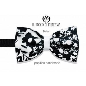 Papillon Black White Dallas Lina Groom high fashion fabric - Handmade
