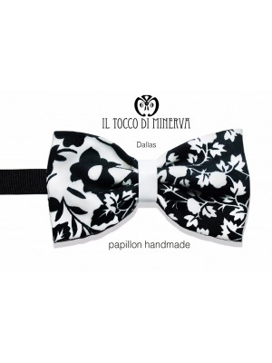 Papillon Black White Dallas Lina Groom high fashion fabric - Handmade