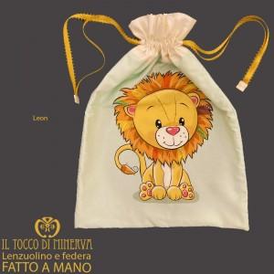 First Change Newborn Baby Bag in Cotton Leone 50x35 - Handmade