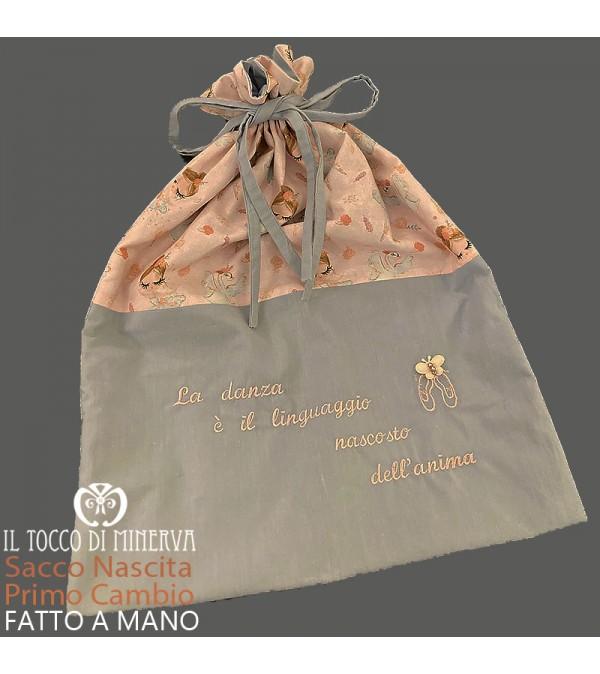First Change Baby Bag in Cotton Ballerina 50x45 - Handmade