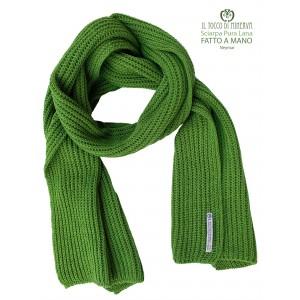 Neymar green pure wool scarf - Handmade