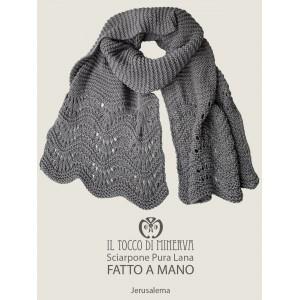 Jerusalema gray pure wool scarf - Handmade