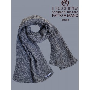 Selena Gray Pure Wool Unisex Scarf - Handmade